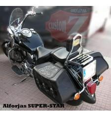 Alforjas Rígidas para Yamaha Drag-Star mod, SUPER STAR Básica - Tribal Lis - Trenzados Específica