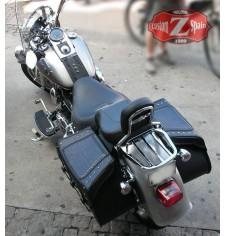 Alforjas Rígidas para Softail Fat-Boy Harley Davidson mod, SUPER STAR Clásicas Trenzados - Coco - Específica