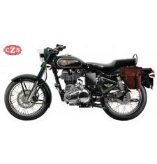 Alforja para Royal Enfield - Bullet Classic 350/500cc mod, CENTURIÓN Marrón - Específica - IZQUIERDA