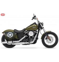 Alforja para Dyna Harley Davidson mod, SPARTA - Army Star - Verde militar - DERECHA - Específica