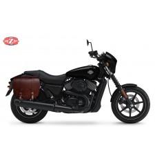 Alforja para Street XG750 Harley Davidson mod, BANDO Específica - Marrón - DERECHA -