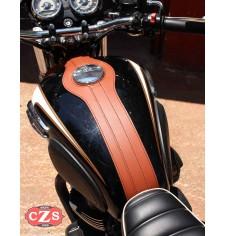 Corbata depósito para Kawasaki W800 mod, ORION - Marrón Cuero -
