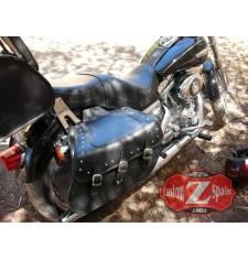 Alforjas Rígidas para Softail Harley Davidson mod, SUPER STAR Clásica Trenzados Específica