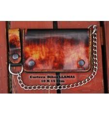 Cartera con Cadena Metálico (10 x 15 cm) - FUEGO -