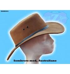 SOMBRERO DE PIEL mod, AUSTRALIANO color cuero