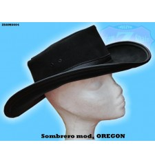 SOMBRERO DE PIEL mod, OREGON color NEGRO