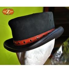 Sombrero de Piel TAHUR Clasico Cinta Naranja