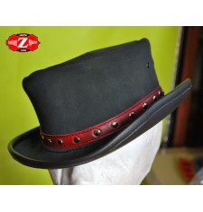 Sombrero de Piel TAHUR Clasico Cinta roja