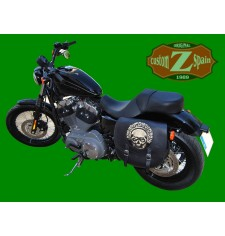 Alforja Lateral para Sportster Harley Davidson mod, SPARTA - Skull CZ HD