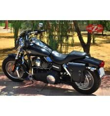 Alforja para Dyna Fat-Bob Harley Davidson mod, CENTURION Específica - Negro - IZQUIERDA