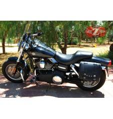 Alforja para Dyna FAT-BOB Harley Davidson mod, BANDO Básica IZQUIERDA