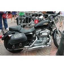 Alforjas Rígidas para Sportster Harley Davidson mod, TEMPLARIO Trenzados - Jefe Indio.