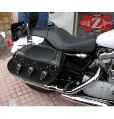 Alforjas Rígidas para Sportster Harley Davidson mod, IBER Clásicas Trenzados Específica