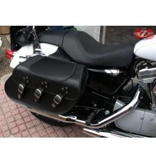 Alforjas Rígidas para Sporster Harley Davidson mod, IBER Básica Trenzados Específica