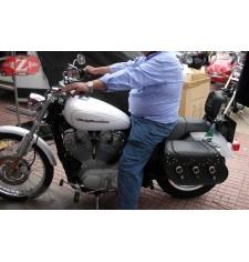 Alforjas Rígidas para Sportster Harley Davidson mod, IBER Clásica Trenzados - Coco - Específica