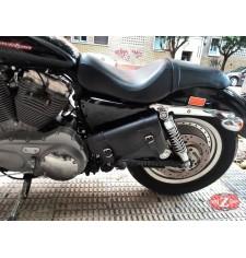 Alforja para basculante para Sportster Harley Davidson mod, LIVE to RIDE Básica Específica - Modelo IZQUIERDO -