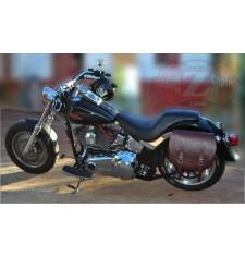 Alforja lateral para FAT-BOY Softail Harley Davidson mod, BANDO Básica Específica - Marrón -