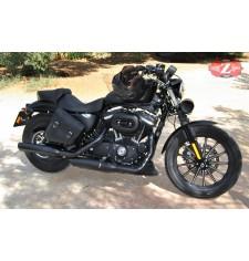 Alforja de Basculante para Sportster 883/1200 Harley Davidson mod, HERCULES Básica Específica - Modelo IZQUIERDO -