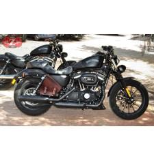 Alforja para Sportster 883/1200 Harley Davidson mod, GADIZ Básica Específica - Marrón - Modelo IZQUIERDO