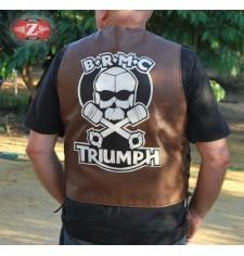"""Chaleco de piel con Parche espalda B.R.M.C. Triumph Marlon Brando """"El Salvaje"""""""