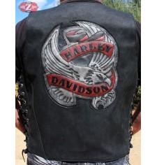 Chaleco custom con parche personalizado. mod, Aguila Harley Davidson