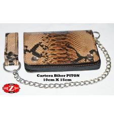 Cartera con Cadena Metálica mod, PITON (10 x 15 cm)