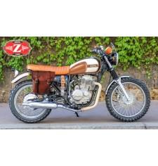 Alforja para Mash Von Dutch 400cc mod, CENTURIÓN Específica - Marrón Cuero - DERECHA