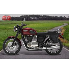 Alforja Triumph Bonneville T120 - T100  mod, CENTURIÓN Izquierda -  Específica - Negra