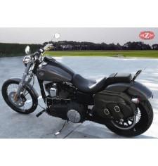 Alforjas para Dyna Harley Davidson mod, LEPANTO Básica Específica - Hueco Amortiguador -