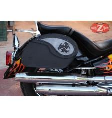 Alforjas Rígidas para Yamaha Drag star 1100/650 mod, VENDETTA - Tribal Aspas - Específicas
