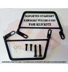 Soportes de Klickfix para Kawasaki Vulcan S 650 que tengan Respaldo trasero