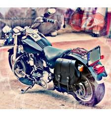 Alforja Lateral para Softail Fat-Boy Harley Davidson mod, BANDO Básica Standard