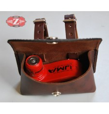 Bolsa Candado para disco de freno - custom de cuero - Marrón