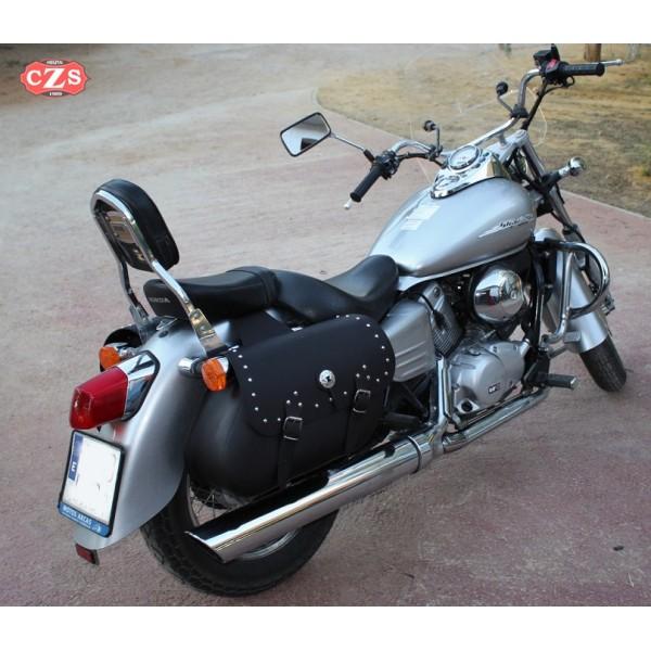 saddlebags for shadow vt 125 honda. Black Bedroom Furniture Sets. Home Design Ideas
