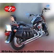 Alforjas para Softail Fat-boy Harley Davidson mod, PIZARRO Clásica Específica