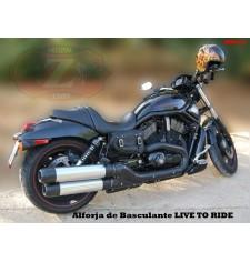 Alforja para basculante para VRSC V-Rod Harley Davidson mod, LIVE to RIDE Básica Específica