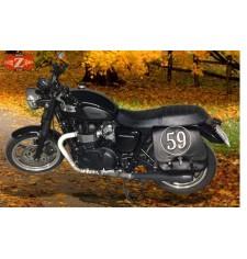 Alforja para Kawasaki W 800 mod, SCIPION - Personalizada - Específica - IZQUIERDA