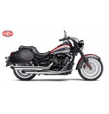 Alforjas Rígidas para Kawasaki Vulcan 900 mod, VENDETTA - Básicas - Específicas - Perfil Rojo -