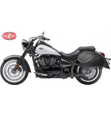 Alforjas Rígidas para Kawasaki Vulcan 900 mod, VENDETTA - Básicas - Específicas - Perfil Blanco -