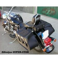Alforjas Rígidas para Suzuki Intruder 800 mod, SUPER STAR Clásica - Jefe Indio - Trenzados Específica