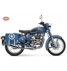 Saddlebag for Royal Enfield Classic Squadron Blue mod, SPARTA BLUE ARMY - RIGHT - Specific