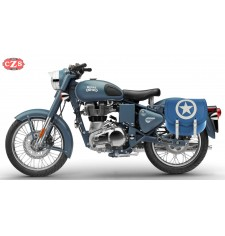 Saddlebag for Royal Enfield Classic Squadron Blue mod, SPARTA BLUE ARMY - LEFT - Specific