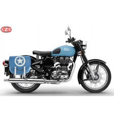 Saddlebag for Royal Enfield Squadron Blue mod, SPARTA BLUE ARMY - RIGHT - Specific