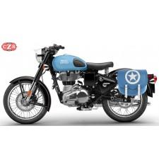 Saddlebag for Royal Enfield Reddicht Blue mod, SPARTA BLUE ARMY - LEFT - Specific
