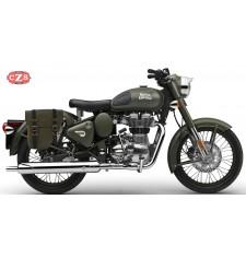 Sacoche pour Royal Enfield Battle Green 350/500cc mod, CENTURION PLATOON - DROITE