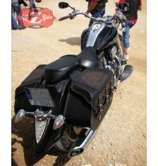 Sacoches Rigide pour Yamaha XVS 1300 mod, SUPER STAR Basique - Tribal Lis - Tressés Spécifique