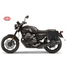 Sacoche pour  V7 III - Moto Guzzi  mod, BANDO Basique - Creux Amortisseur - Spécifique Gauche