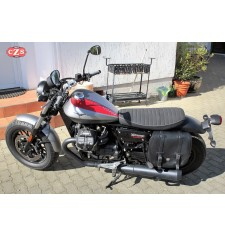 Saddlebag for Guzzi V9 Bobber - V9 Roamer mod, BANDO Basic Specific - Shock Absorber - LEFT