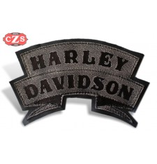 Embossed leather patch mod, HARLEY DAVIDSON - Black -