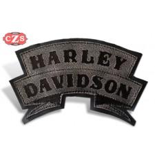 Parche Repujado en Piel mod, HARLEY DAVIDSON - Negro -